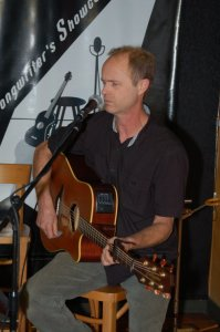 Dave Mercer playing the BC Songwriters' Open Mic