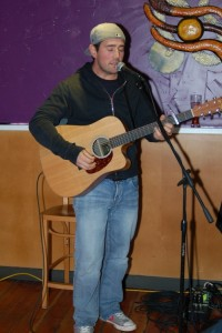 Glen Mager, performing his songs at the BC Songwriters' Showcase in Langley - BCSongwriters.ca