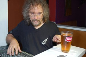 """Bob the Sound Guy, testing the """"if you poke a beer during a Songwriter Showcase, does it make a sound"""" conundrum - BCSongwriters.ca"""