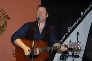 Trent Olver, performing his songs at the BC Songwriters' Showcase in Langley - BCSongwriters.ca