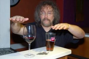 Bob the Sound Guy, comparing the evaporative properties of various liquids - BCSongwriters.ca
