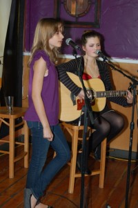 Vienna & Talia Dyke - performing at BC Songwriters' Showcase - BCSongwriters.ca