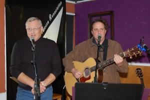 Dan Beer, accompanied by Jim McGregor - performing at BC Songwriters' Open Mic - BCSongwriters.ca