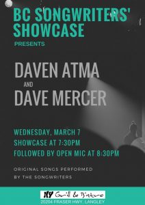 BC Songwriters' Showcase - Daven Atma & Dave Mercer - BCSongwriters.ca