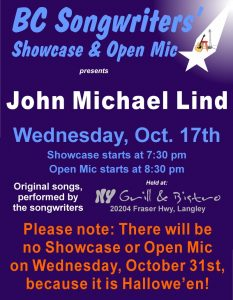 BCS - John Michael Lind - BCSongwriters.ca
