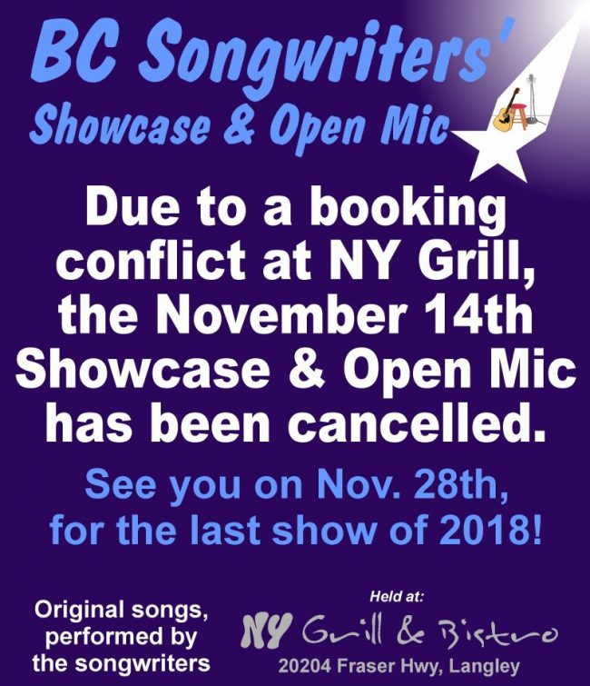 BCS - Showcase Cancelled