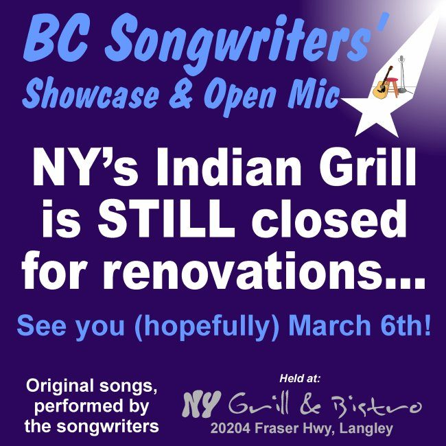NY's Indian Grill is still closed, while they undergo renovations. Hope to see you there on March 6th!