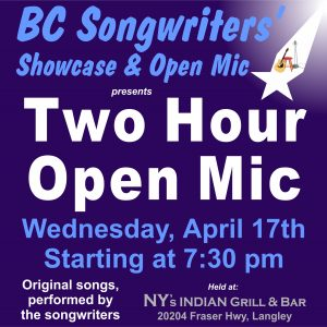 Two Hour Open Mic - BC Songwriters - BCSongwriters.ca