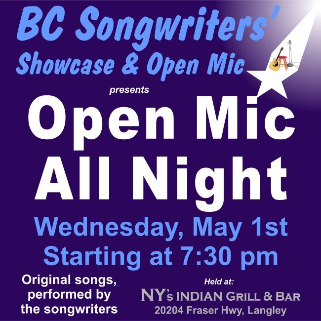 BC Songwriters - Open Mic All Night - BCSongwriters.ca