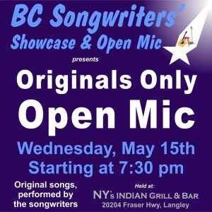 Originals Only Open Mic - BCSongwriters.ca