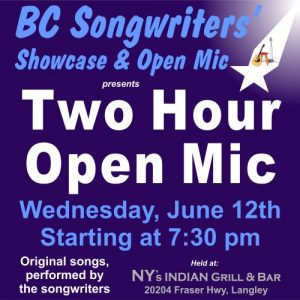 Two Hour Open Mic - BCSongwriters.ca
