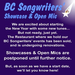 Our venue is closed for renovations - BCSongwriters.ca