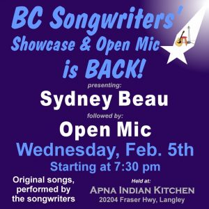 BC Songwriters' Showcase & Open Mic is back! - BCSongwriters.ca