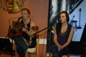 Britt Bonshor & Courtney Hunt - Performing at the BC Songwriters' Showcase - Langley, BC