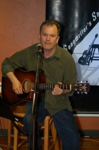 Earl Travis Taylor playing BC Songwriters' Open Mic